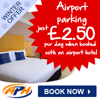 APH Airport Parking �2.50 per day. Book by 14 Nov