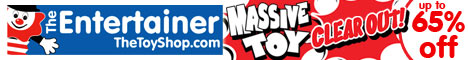 up to 65% off Massive Toy Clear Out at The Entertainer