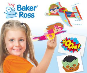 An advert for Baker Ross