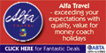Book with Alpha Coach Holidays