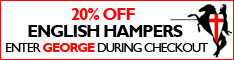 20% OFF ENGLISH HAMPERS CATEGORY FOR ST GEORGE'S DAY