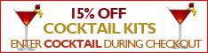 10% OFF Cocktail Kits May 2013