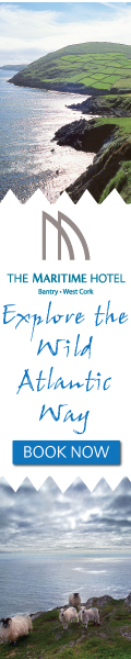 A relaxing stay and a warm welcome await you at The Maritime Hotel in West Cork