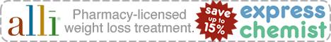Alli weight loss treatment at Express Chemist