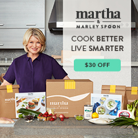 Martha & Marley Spoon sends the recipes of your choice and the fresh, pre-portioned ingredients you need to cook them directly to your door.