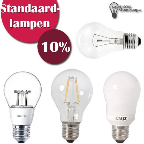 Standaardlampen 10% korting