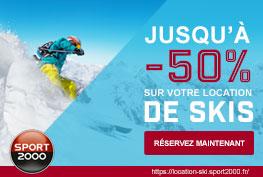 Location de ski famille avec Sport 2000