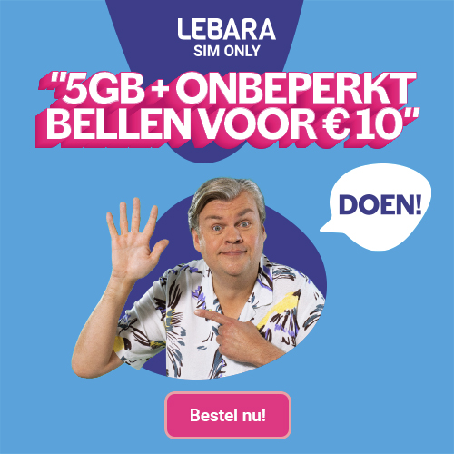Lebara | Sim Only 5GB voor € 10,-