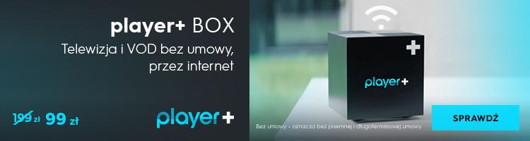 Player+ BOX - telewizja i VOD bez umowy, przez internet