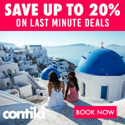 contiki ad save up to 20% on last minute deals