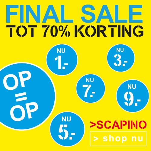 Supersale bij Scapino tot 70%korting