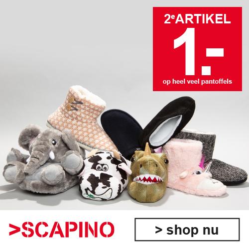 Tweede paar pantoffels voor €1