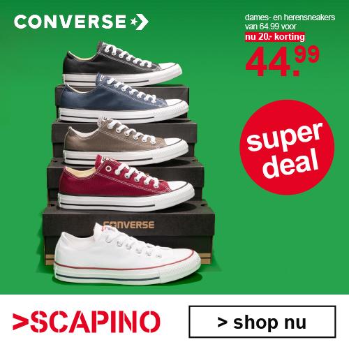 Converse met €20 korting! van €64,99 voor € 44.49