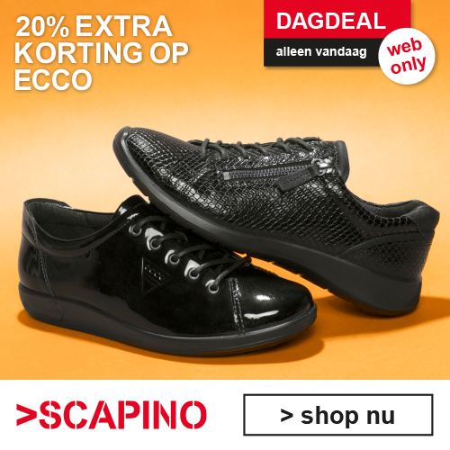 Dagdeal 17 december Scapino 20% extra korting op ECCO