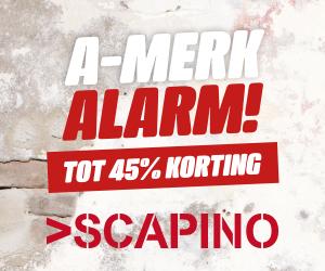 A-merk alarm tot 45% kring bij scapino