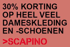 30% korting op dameskleding en -schoenen