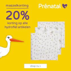 Prénatal Mega Mazzel dagen! 20% korting op alle hydrofiel artikelen