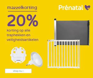 Prénatal Mega Mazzel dagen! 20% korting op alle traphekken en veiligheidsartikelen*