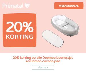 Prénatal Weekenddeal | 20% korting op alle doomoo bednestjes & doomoo cocoon pad