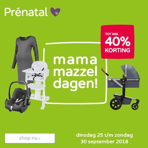 Mama Mazzeldagen bij Prenatal!