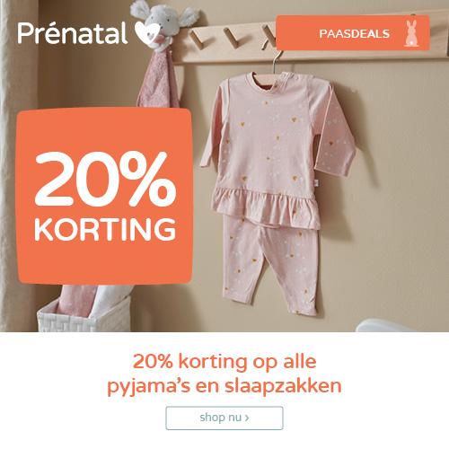 Prénatal Paasdeals! 20% korting op alle pyjama's en slaapzakken