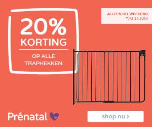 Prénatal weekenddeal! 20% korting op traphekken