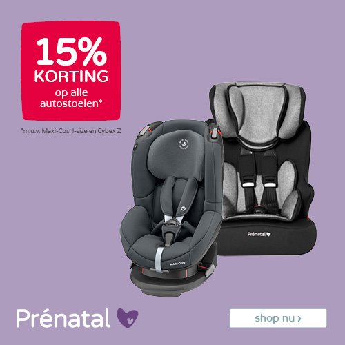 Prénatal Voordeelweken! 15% korting op alle autostoelen*