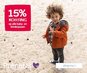 Prénatal 15% korting op alle baby- en kinderjassen