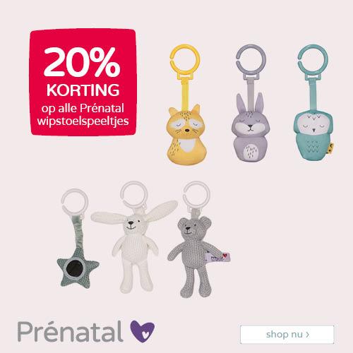 Prénatal vier het moment 20% korting op Prénatal wipstoelspeeltjes