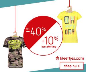 Kinderkleding | Sale tot -40% +10% extra kassakorting bij Kleertjes_com