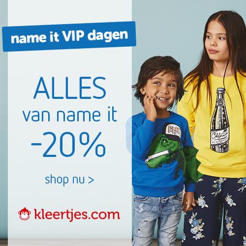 Name it Vip dagen alles van Name it 20% korting bij Kleertjes.com