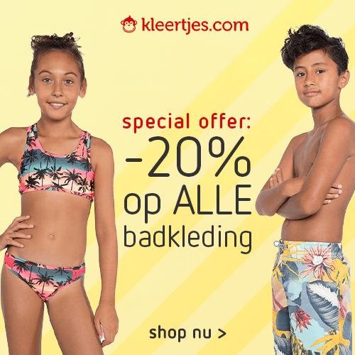 Alle badkleding: nu -20% Kleertjes.com