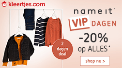 name it VIP dagen: -20% op ALLES van name it!*