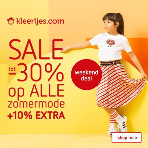 Sale tot -30% + 10% extra kassakorting | Kleertjes_com