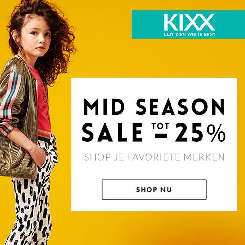 Kixx mid season sale tot 25% korting