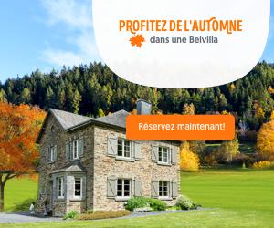 Réservez votre maison de vacances à petits prix pour cet automne avec Belvilla