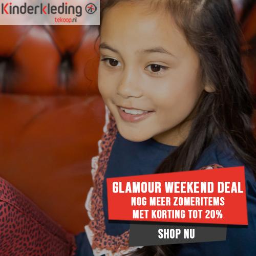 Glamour weekend deal kinderkleding zomeritems met korting tot 20% bij Kinderkledingtekoop