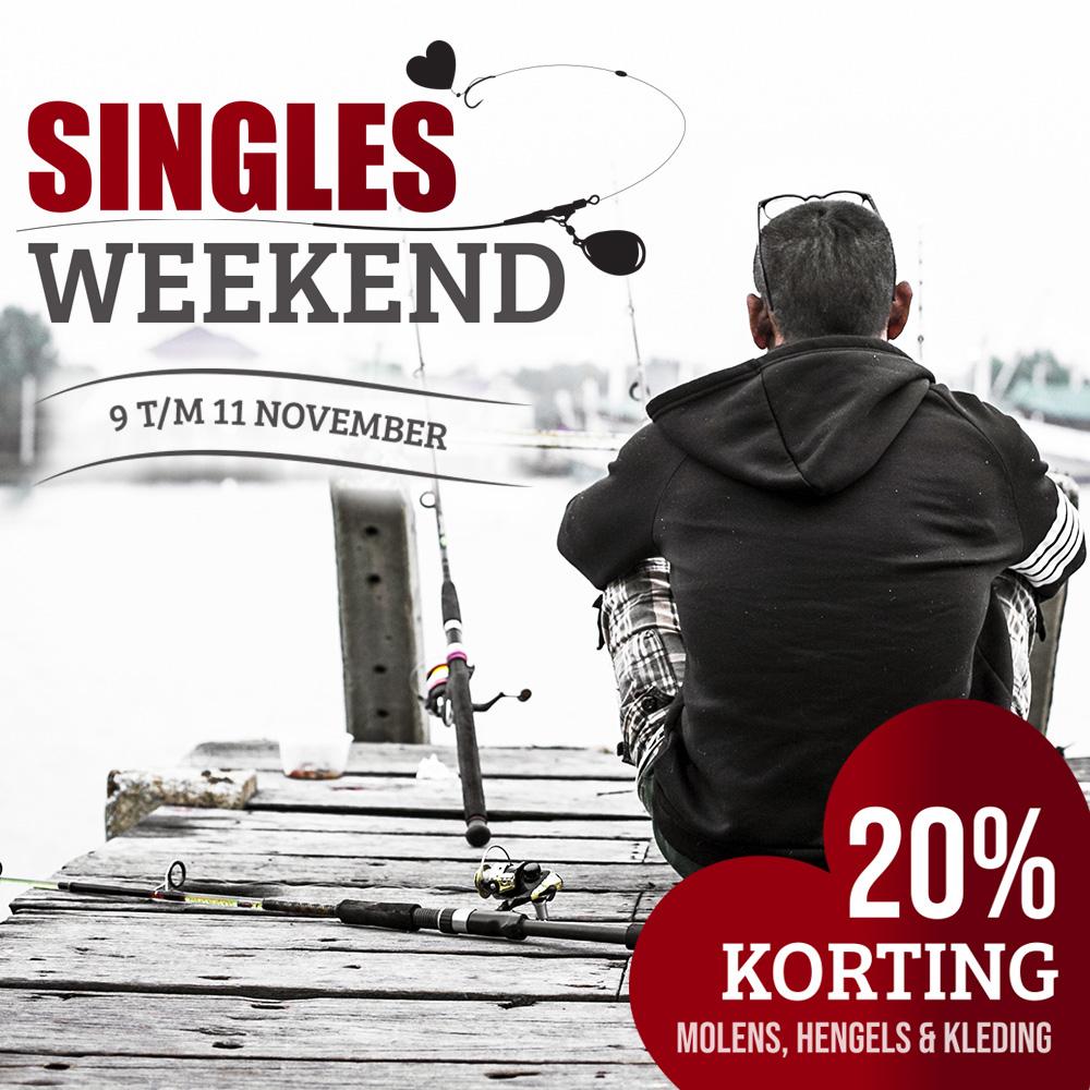 Singles Day bij Raven singles weekend 9 - 11 november  20% korting op molens, hengels en kleding