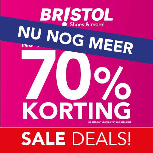 Sale bij Bristol tot 70% korting