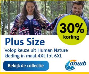 Human Nature kleding maat 4xl tot 6xl 30%korting bij ANWB