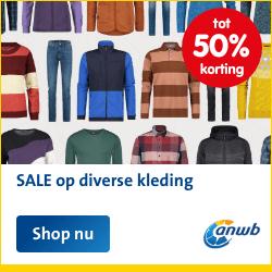 Sale op diverse kleding bij de ANWB Webwinkel