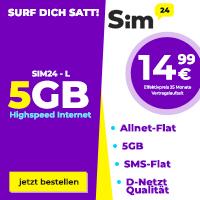SIM-24 L mit 5 GB Internet