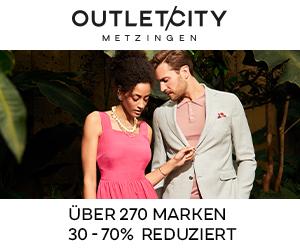 OUTLECITY METZINGEN - Über 270 Marken 30-70% reduziert