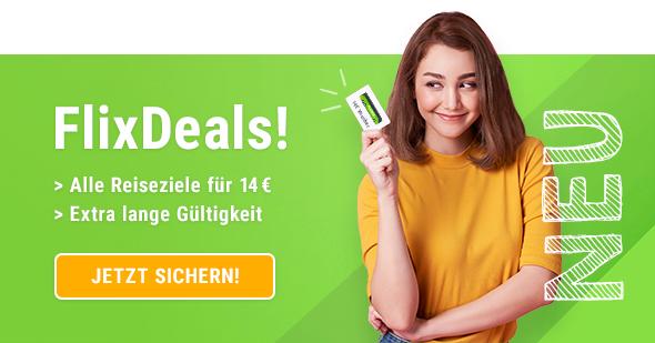 FlixBus FlixDeals ab 14,99€ mit dem Fernbus verreisen