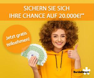 Werbebanner Burda Gewinnspiel Bargeld 300x250