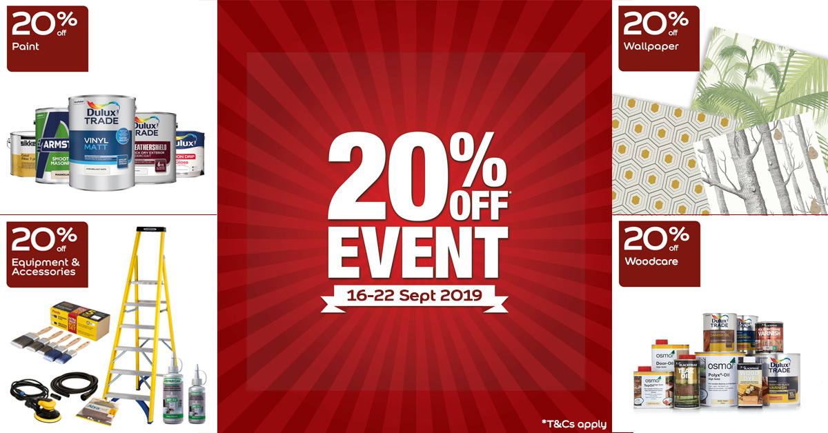 20% off across all items