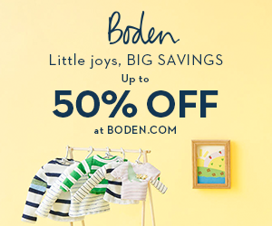 15% discount on clothes for children at Boden