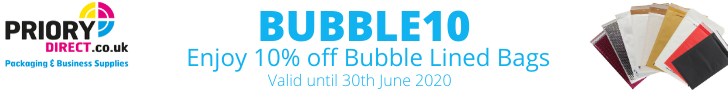 Priory Direct 10% Off Bubble Lined Bags
