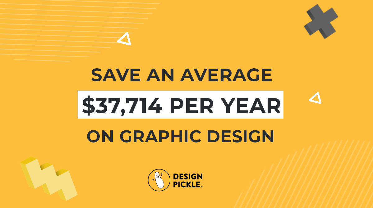 average users savings with design pickle