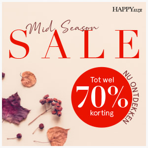Happy Size mid season sale tot wel 70% korting
